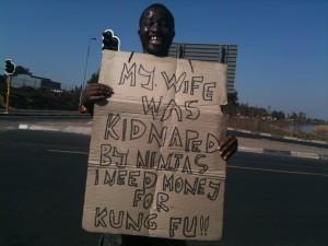 Beggar using Kung Fu